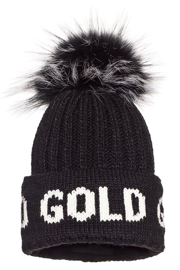 NEW GOLDBERGH レディース スキー キャップ GB42-10-203 Hodd real fur 900 BLACK