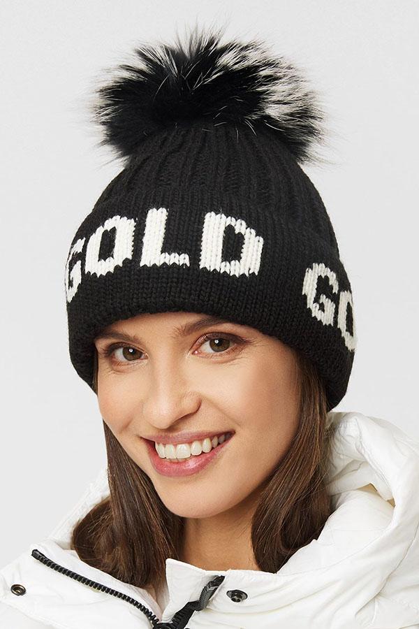 NEW GOLDBERGH レディース スキー キャップ GB42-10-203 Hodd real fur 900 BLACK