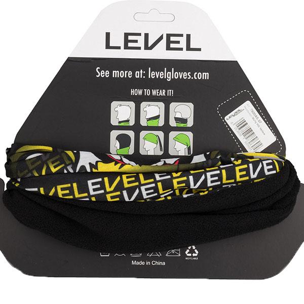 LEVEL メンズ ネックウォーマー 7800AS MULTY HG 07/YELLOW