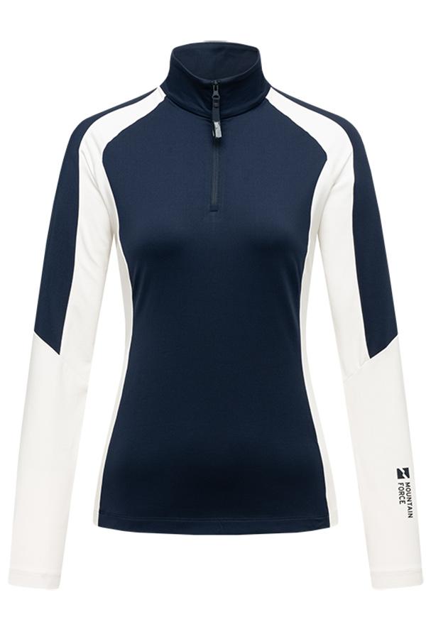 NEW MOUNTAIN FORCE レディース スキー インナージャケット SHIRT MF20W5004 Wmn Yana shirt 6030 Navy/Offwhite