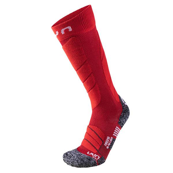 UYN レディースソックス LD SKI MAGMA SOCKS S100099 R318-Dark Red/Red