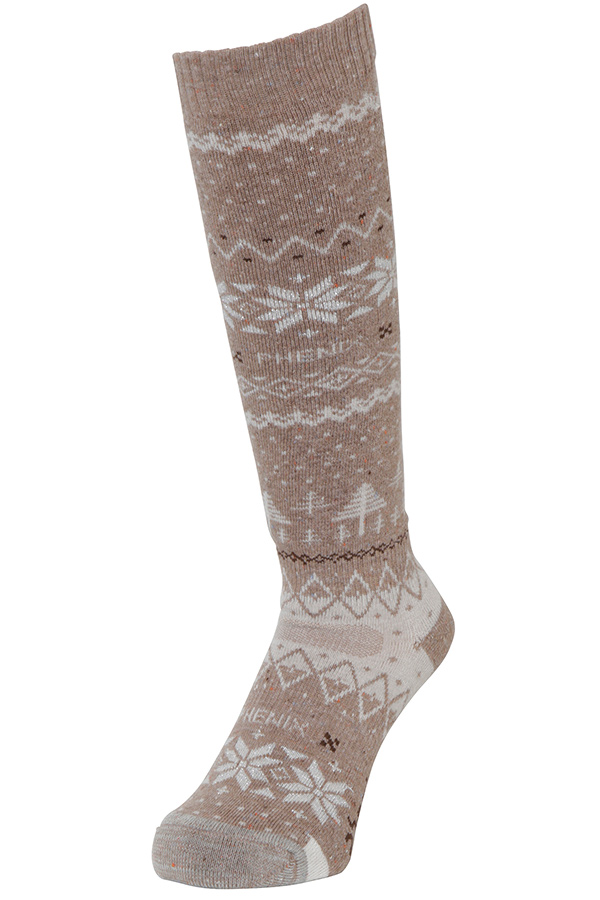 NEW Phenix スキー ソックス W/SOCKS PSA88SO60 SNOW PATTERNED SOCKS BE