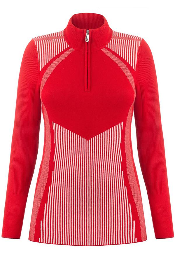 WINTER SALE 40%OFF POIVRE BLANC スキーインナージャケット レディース W19-3540-WO 273970 9052 scariet red 3/white