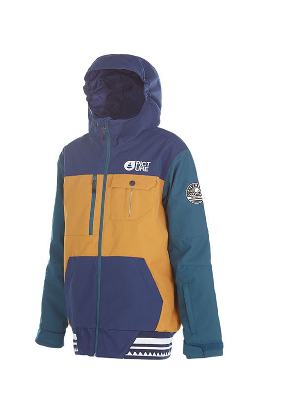 SALE 50%OFF PICTURE ORGANIC ピクチャー キッズ スキー ジャケット BALME  JACKET KVT026 CAMEL - DARK BLUE