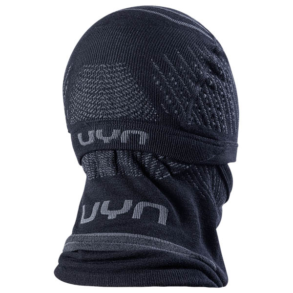 UYN メンズ バラクラバ FUSYON UNISEX Two-In-ONE BEANIE/NECK WARMER B017-Black/Anthracite/Anthracite