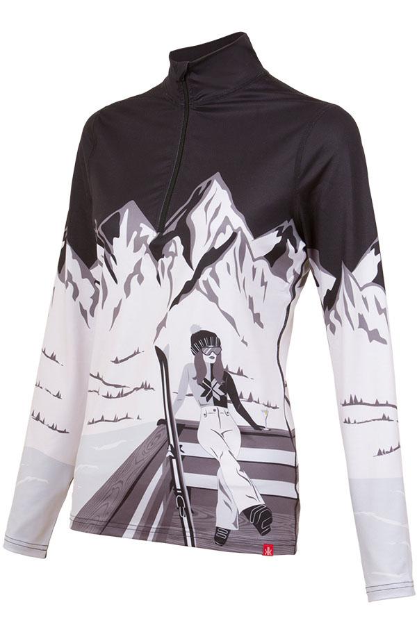 NEW KRIMSON KLOVER レディース スキーインナーシャツ SHIRT 1669 Apres Anyone 1/4Zip 001 black