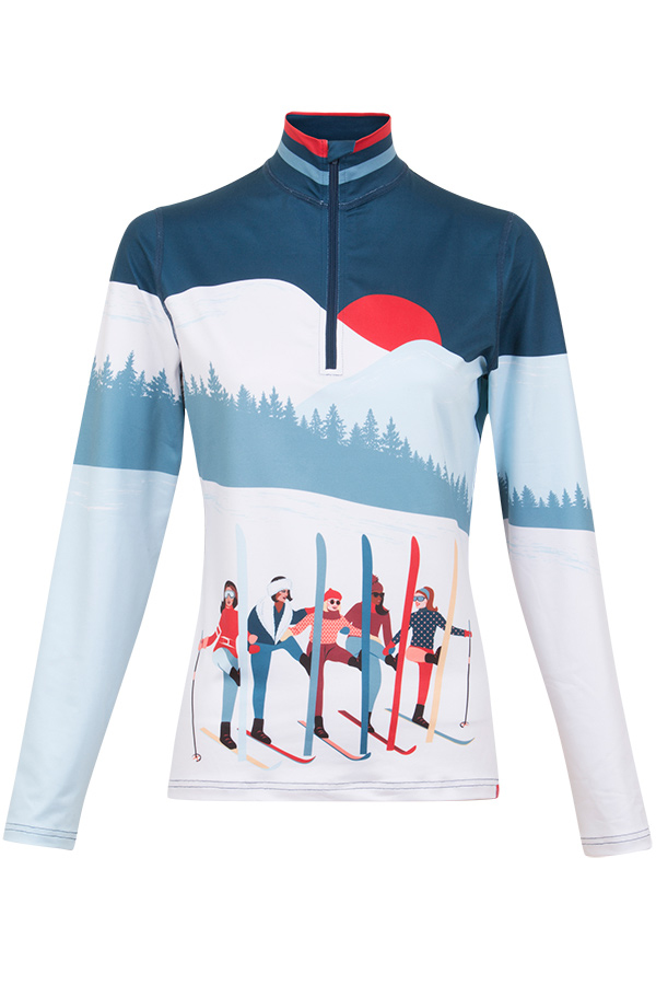 NEW KRIMSON KLOVER レディース スキーインナーシャツ SHIRT 1670 Amiche 1/4Zip 411 edgewater