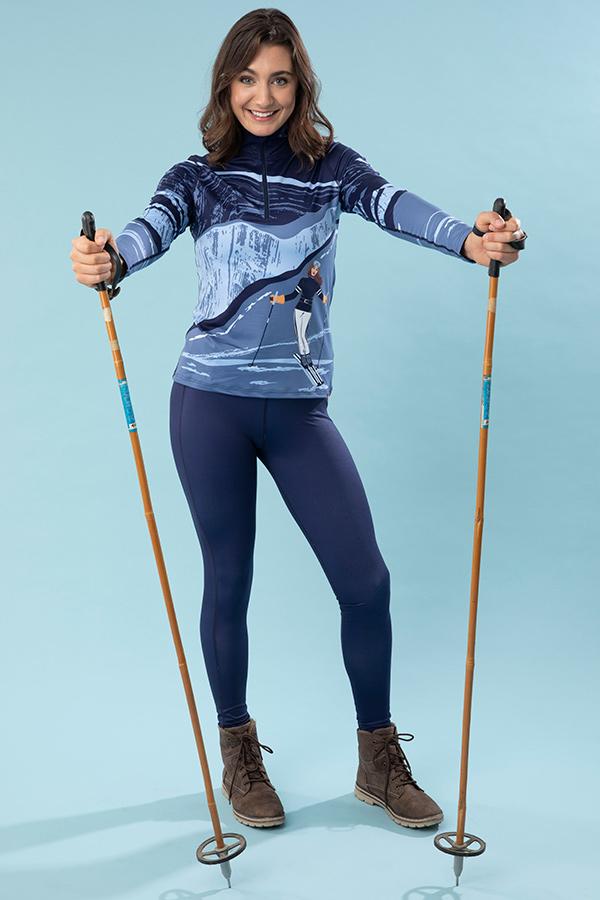 NEW KRIMSON KLOVER レディース スキーインナーシャツ SSHIRT 1671 Elevation 1/4Zip 405 indigo