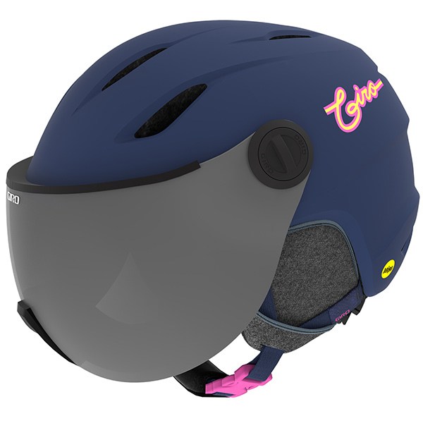 GIRO ジロ ジュニアスキーヘルメット BUZZ MIPS MATTE MIDNIGHT/NEON LIGHTS