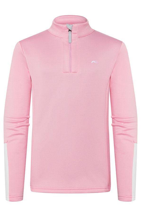 KJUS ガールズ スキーインナージャケット GS25-G02 Girls Jade Harf-Zip 85601 balloon pink-wht