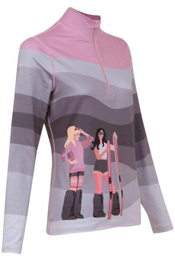 KRIMSON KLOVER レディース スキーインナーシャツ SHIRT 1689 Peace Love Ski 1/4Zip 039 mid grey