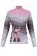 NEW KRIMSON KLOVER レディース スキーインナーシャツ SHIRT 1689 Peace Love Ski 1/4Zip 039 mid grey