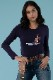 KRIMSON KLOVER レディース スキーインナーシャツ SHIRT 1721 Valley Girl Crew Neck 405 indigo