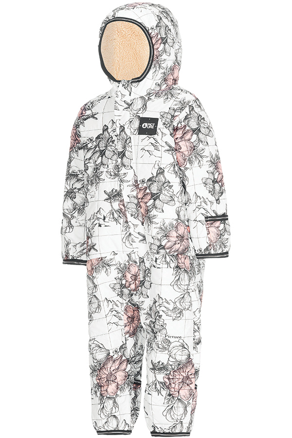 PICTURE ベイビースキースーツ KPT061 MY FIRST BB SUIT Peonies White