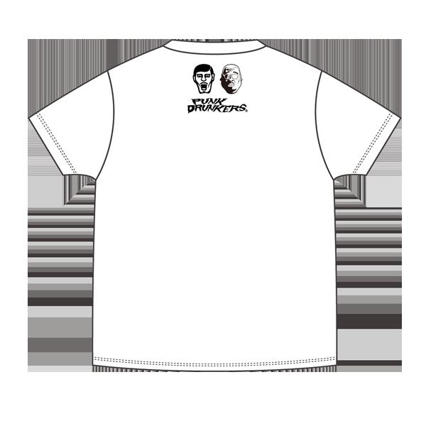【パンクドランカーズxくっきー】くっきー刺繍TEE チェチェナ ポケットT WHITE