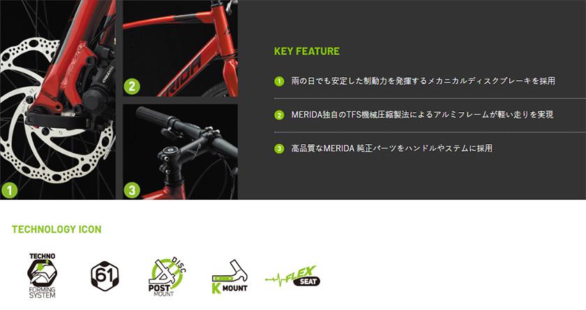 MERIDA メリダ 自転車 クロスバイク CROSSWAY 200-MD 2020年モデル