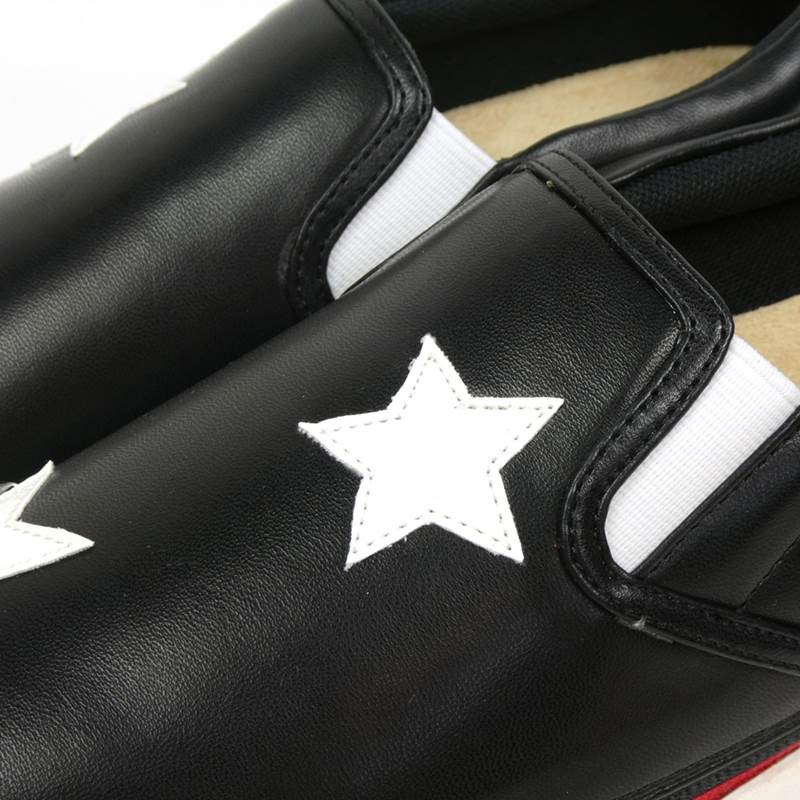星柄 ゴムスリッポン(ブラック)