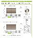 スタイリッシュプランターセット 7295 フレンド【720×952 mm/アッシュブラウン】aks-20185