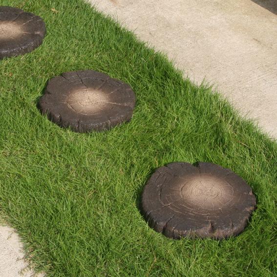 切り株 敷石(スタンプ FRP素材)  枕木 擬石 エクステリア ガーデニング