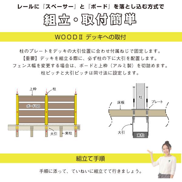 人工木ボーダーフェンス 基本セット JJ-WOOD II