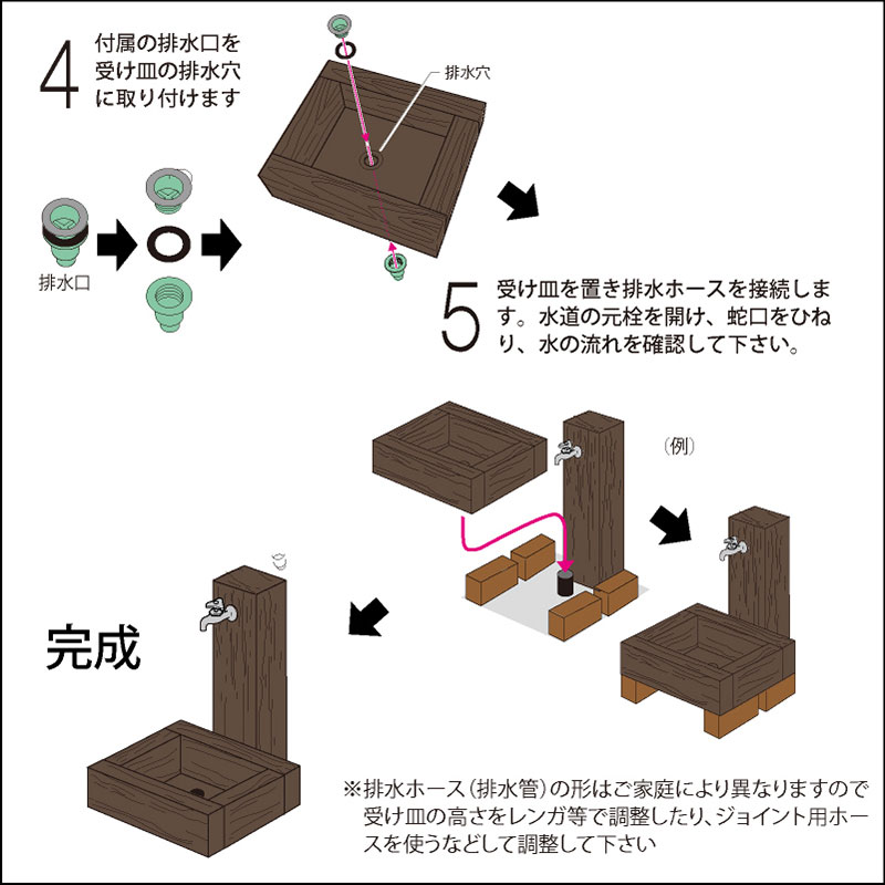 【予約販売10/6以降発送】軽量FRP製 水栓柱カバー(枕木風)
