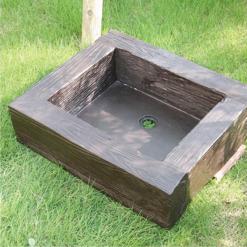 軽量FRP製 水栓パン(枕木風)