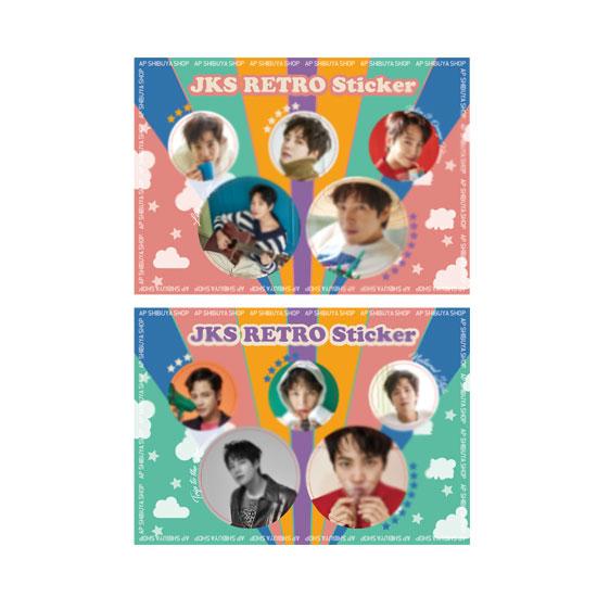 JKS Retro Sticker 小 ピンク 2021 Golden Week