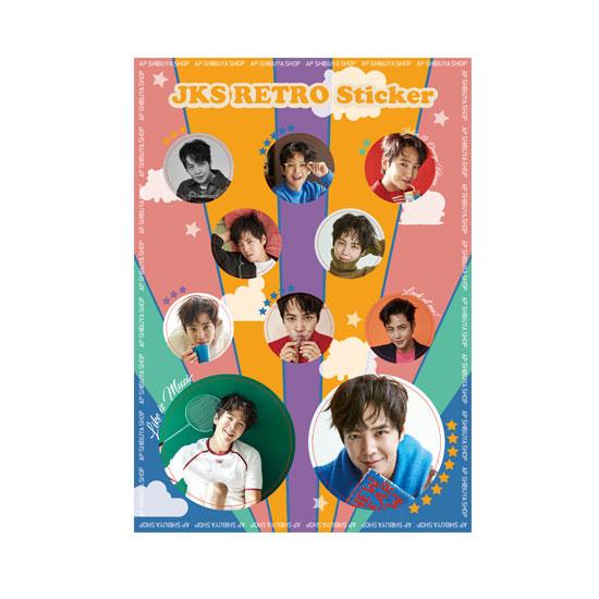 JKS Retro Sticker 大 オレンジ 2021 Golden Week