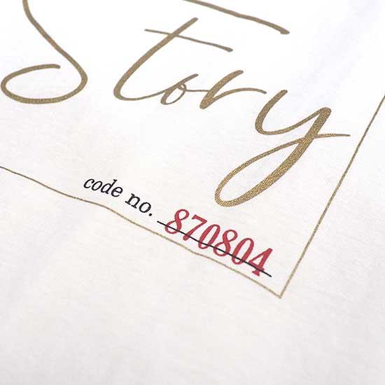 Z バックプリント T-shirts Vネック White