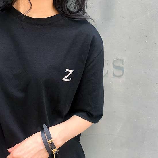 Z バックプリント T-shirts クルーネック Black
