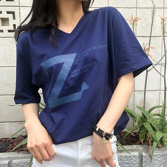 Z T-shirts Vネック