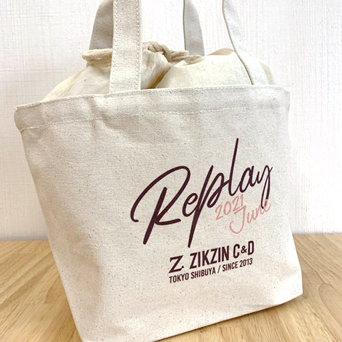 Replay巾着エコバッグ  ZIKZIN CAFE&DINING