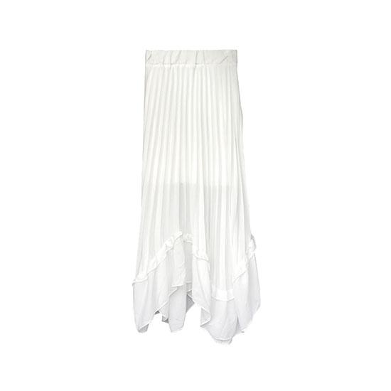 プリーツロングスカート White