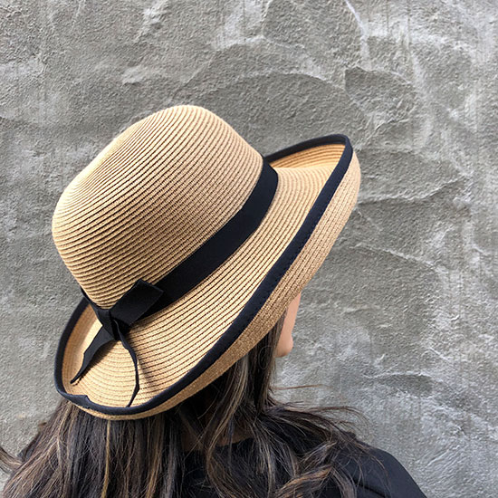Z ラタン帽子 Brown
