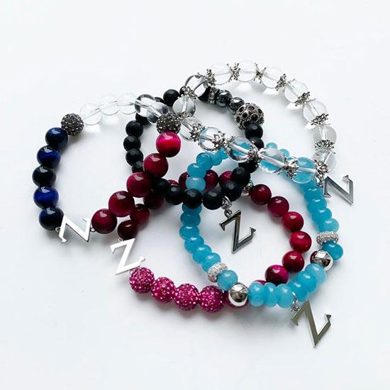 Z beads brecelet 大 sky blue