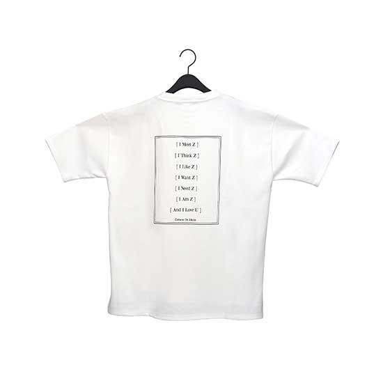 メッセージTシャツA White