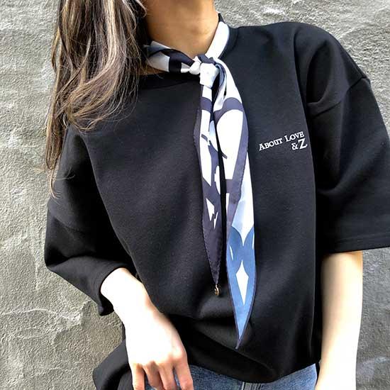 メッセージTシャツA Black