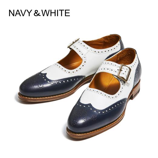 98686 / CUOIO & WHITE (LEATHER SOLE)