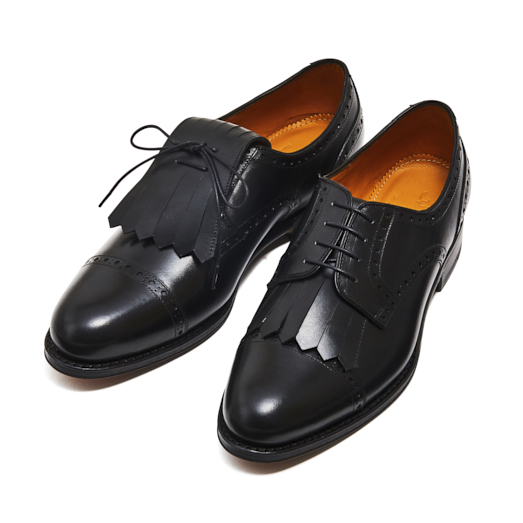 98736 / BLACK (LEATHER SOLE)