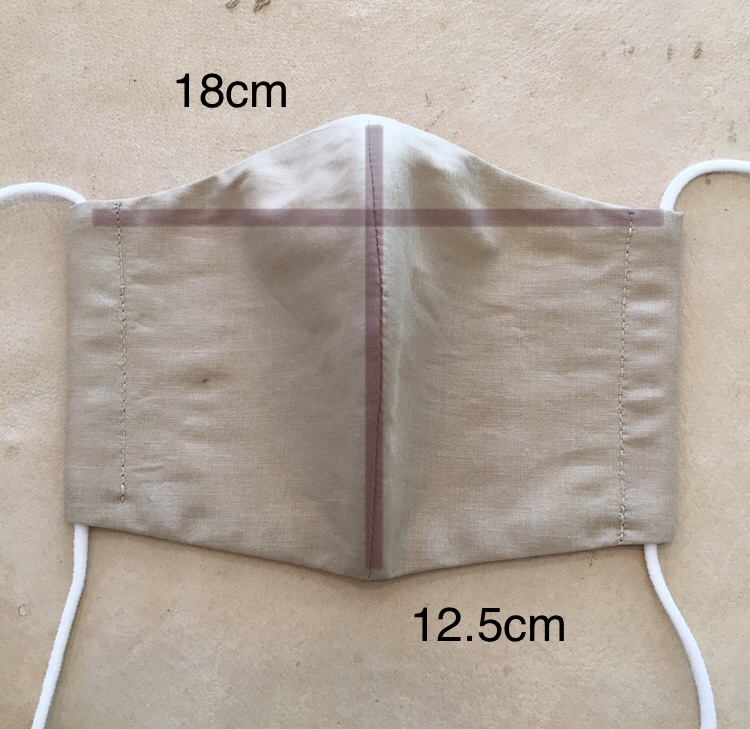 オーガニックローン[綿麻オーガニック]布マスク(おとなサイズ)