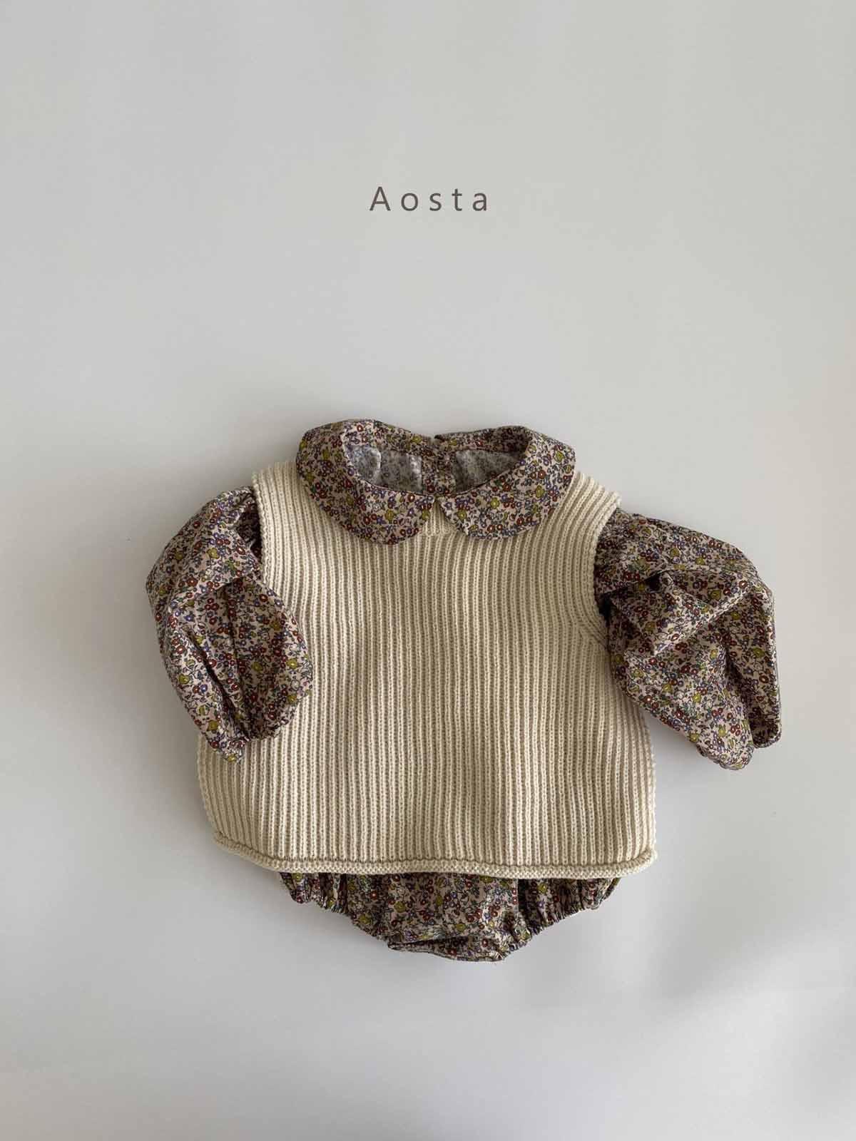 knit vest(Aosta)