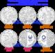 「4種セット」東京2020オリンピック、パラリンピック競技大会記念千円銀貨幣プルーフ貨幣セット「陸上競技」「バドミントン」「野球・ソフトボール」「水泳」(第二次)【未開封、完全未使用品】