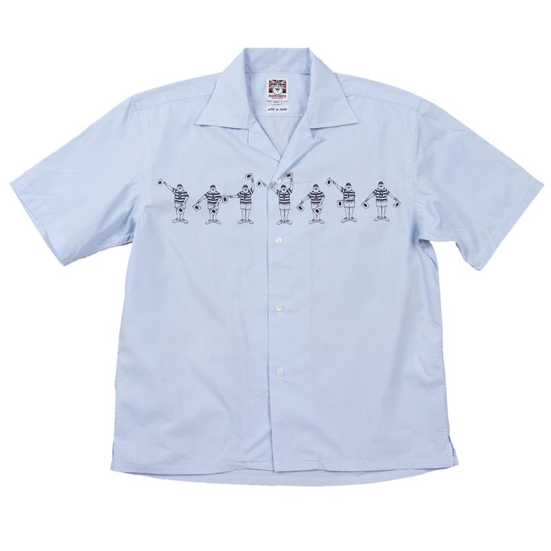 《キャプテンサンタ》フラッグサンタアロハシャツ