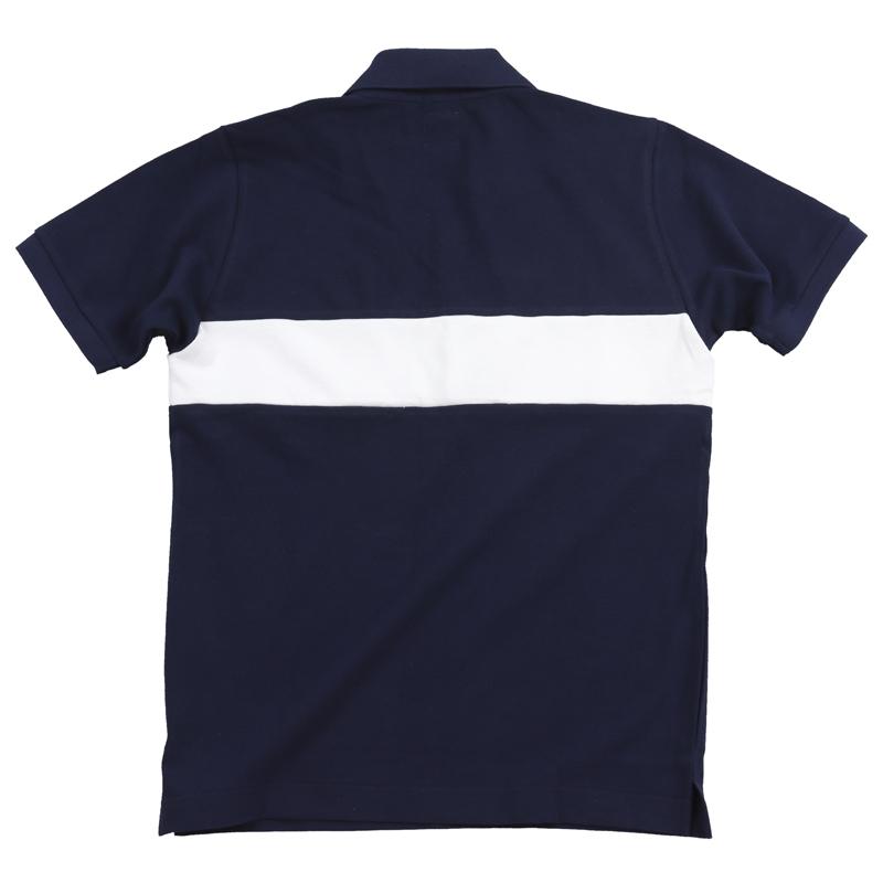 《キャプテンサンタ》配色ラインVネックカノコポロシャツ
