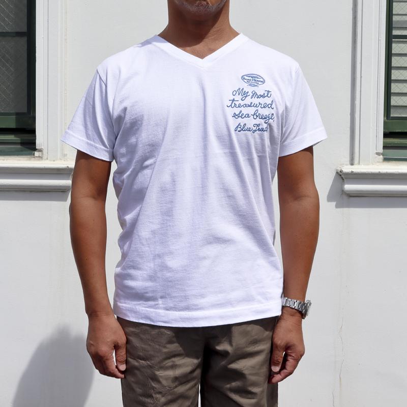 《ボートハウス》シシュウVネックTシャツ