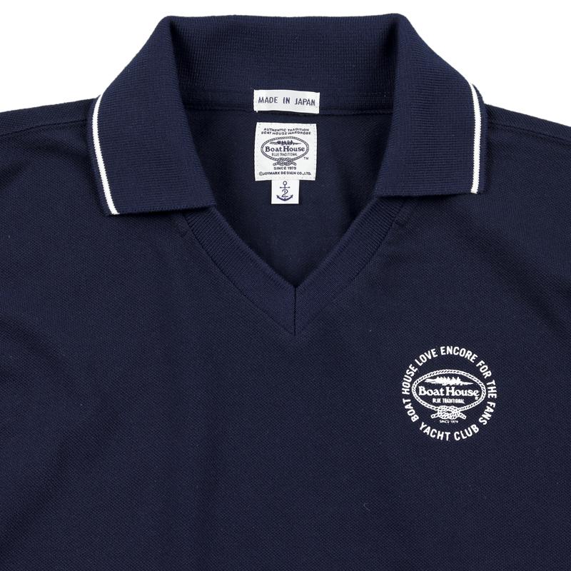 《ボートハウス》Vネックカノコポロシャツ