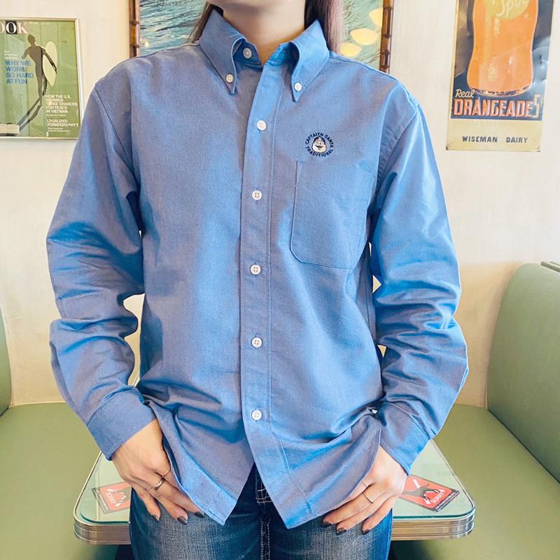 《キャプテンサンタ》クールマックス ワンポイントL/S BDシャツ