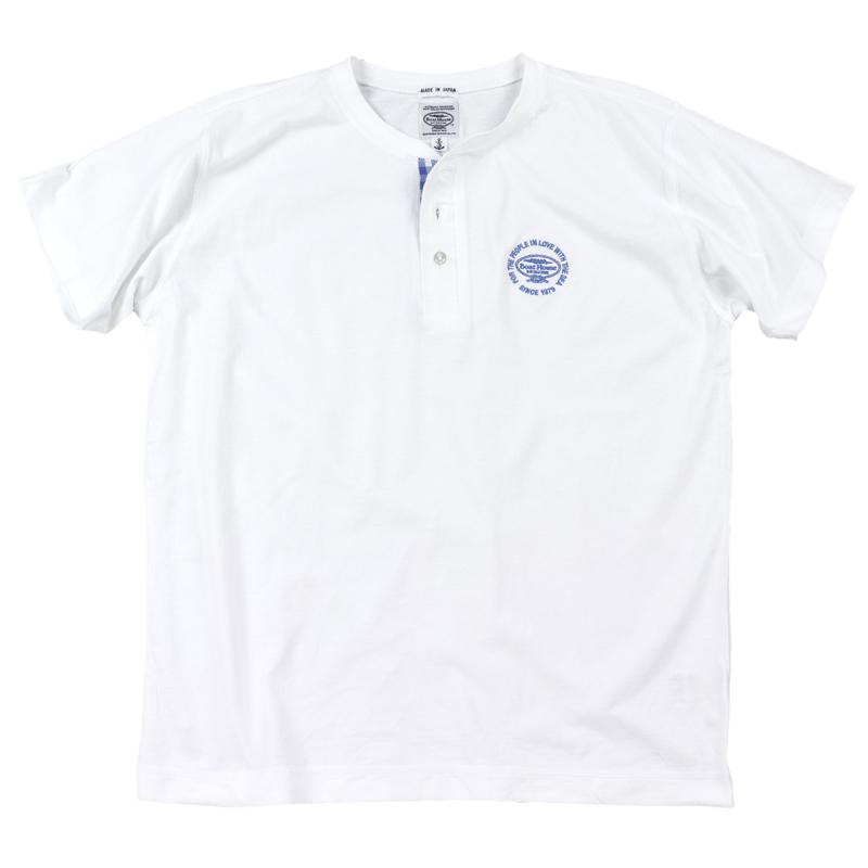 《ボートハウス》ギンガムヘンリーネックTシャツ