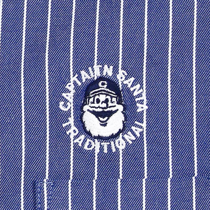 《キャプテンサンタ》ストライプワンポイントL/S BDシャツ
