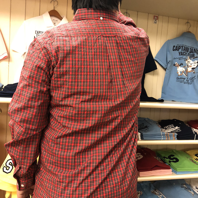 《キャプテンサンタ》タータンチェックL/SBDシャツ